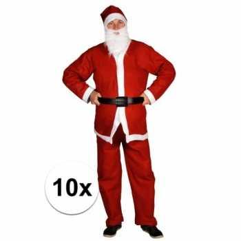Foute 10x voordelige santa run kerstman party kleding voor volwassene