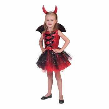 Foute 3 delige party kleding jurkje duivel