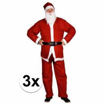 Foute 3x voordelige santa run kerstman party kleding voor volwassenen