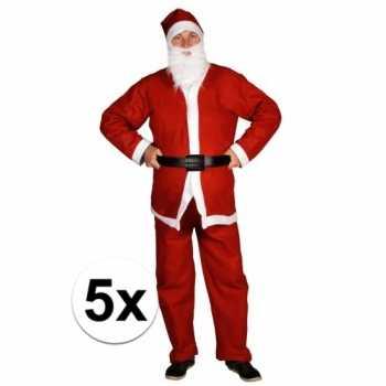 Foute 5x voordelige santa run kerstman party kleding voor volwassenen