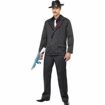 Foute al capone party kleding zwart voor heren