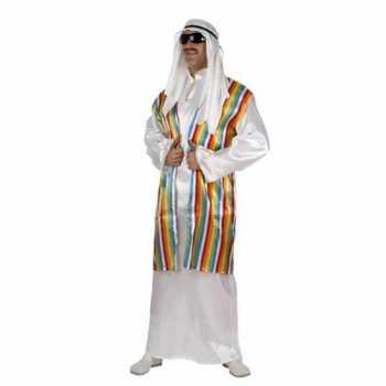 Foute arabisch party kleding met regenboog vest voor volwassenen