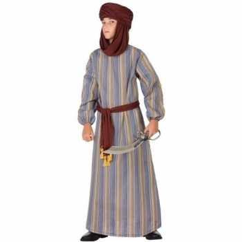 Foute arabische strijder ali party kleding/gewaad voor jongens