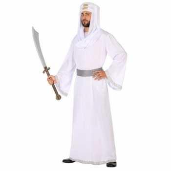 Foute arabische strijder hassan party kleding/gewaad voor heren