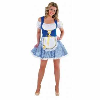 Foute bayern party kleding blauw met wit