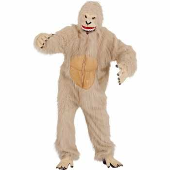 Foute beige yeti party kleding
