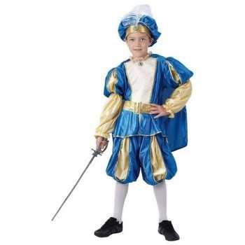 Foute blauw prinsen party kleding voor jongens