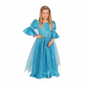 Foute blauwe prinses party kleding voor meisjes