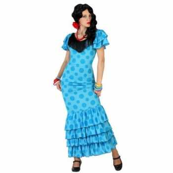 Foute blauwe spaanse party kleding jurk