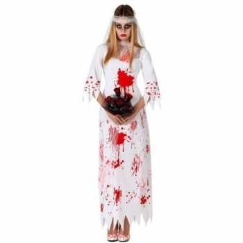 Foute bloederige zombie/spook bruid party kleding voor dames