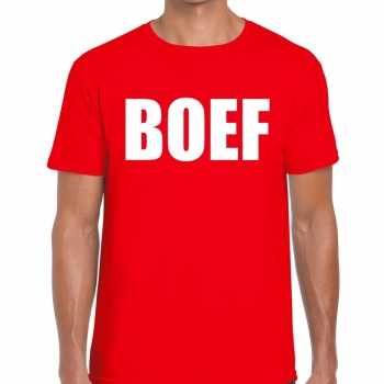 Foute boef heren t shirt rood party