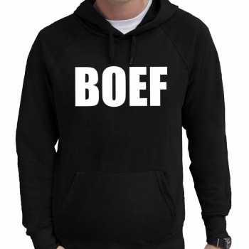 Foute boef tekst hoodie zwart voor heren party