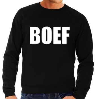 Foute boef tekst sweater / trui zwart voor heren party