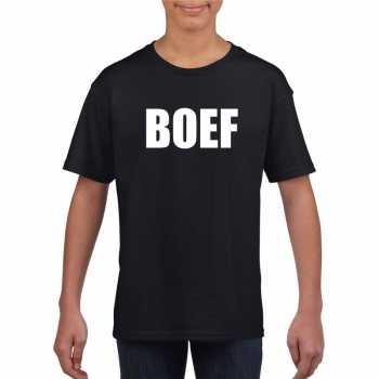 Foute boef tekst t shirt zwart kinderen party