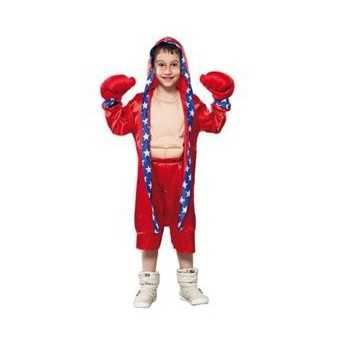 Foute bokser party kleding voor kinderen rood