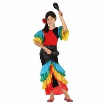 Foute braziliaanse samba/rumba danseres party kledingvoor meisjes
