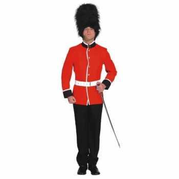 Foute britse soldaat carnavals party kleding