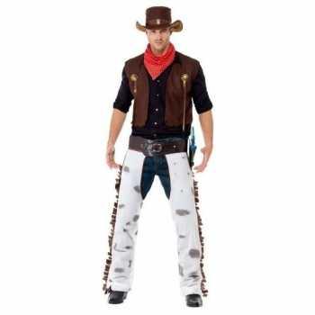 Foute bruin cowboy party kleding voor heren