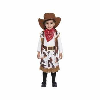 Foute bruin cowboy party kleding voor peuters