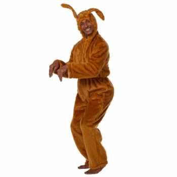 Foute bruine haas party kleding voor volwassenen