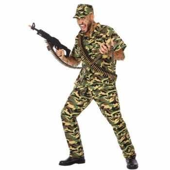 Foute camouflage soldaat pak/party kleding voor heren