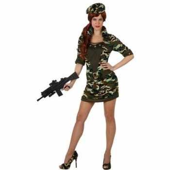 Foute camouflage soldaat party kleding/jurk voor dames