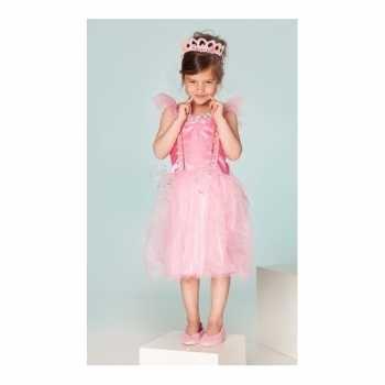 Foute carnaval party kleding prinses fuchsia meisjes
