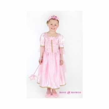 Foute carnaval party kleding prinses lichtroze meisjes