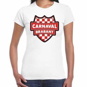 Foute carnaval t shirt brabant wit voor voor dames party
