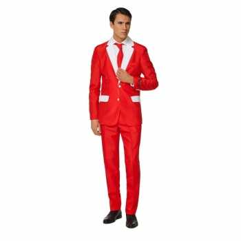 Foute carnavals heren pak kerstman party kleding print