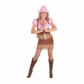 Foute carnavals party kleding cowgirl dames