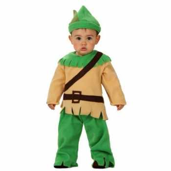 Foute carnavals party kleding robin hood voor babies