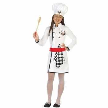 Foute chef kok party kleding/jurk voor meisjes