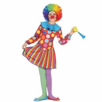 Foute clown dotty party kleding voor meisjes
