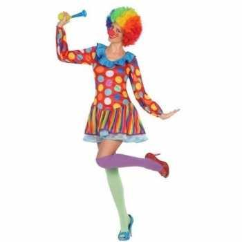 Foute clown jurkje/party kleding voor dames