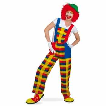 Foute clown pebbi party kleding voor volwassenen