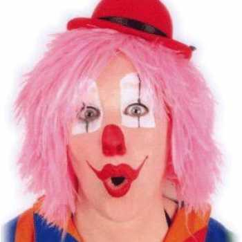 Foute clownspruiken in het roze party