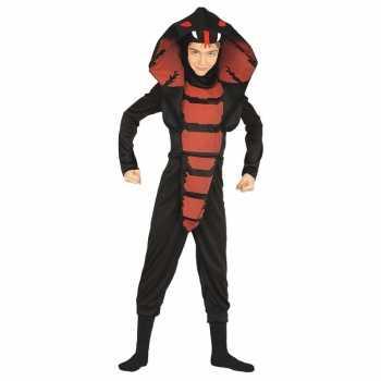 Foute cobra ninja slangen party kleding voor jongens
