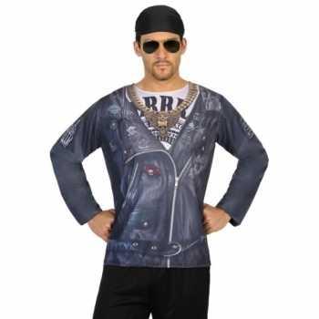 Foute compleet biker party kleding voor heren