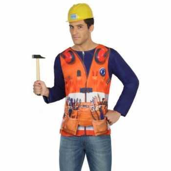 Foute compleet bouwvakker party kleding voor heren