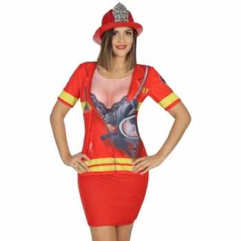 Foute compleet brandweer party kleding voor dames