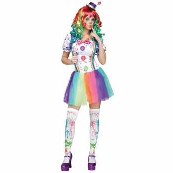 Foute compleet clowns party kleding paint voor dames