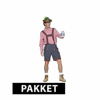 Foute compleet oktoberfest party kleding voor heren maat m