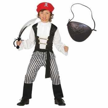 Foute compleet piraten party kleding maat 128 134 voor kinderen
