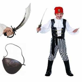 Foute compleet piraten party kleding maat m voor kids