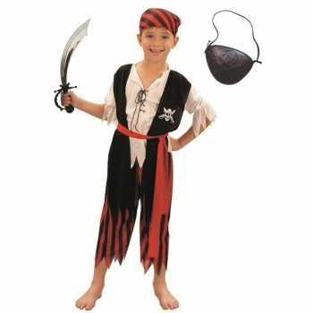 Foute compleet piraten party kleding maat m voor kinderen