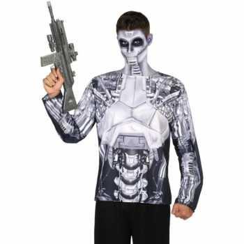 Foute compleet robot party kleding voor heren