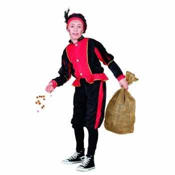 Foute compleet rood pieten party kleding voor kinderen