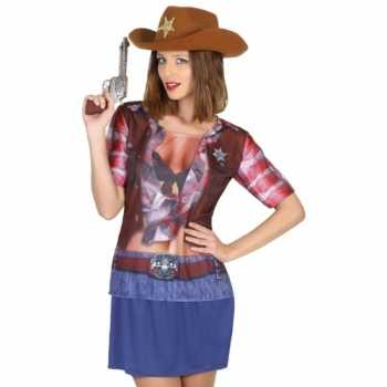 Foute compleet sheriff party kleding voor dames