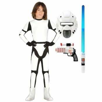 Foute compleet space trooper party kleding maat 110 116 voor kinderen